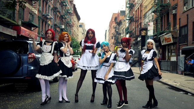 My favorite photo I took of this event!;) It's the Witches 5 dressed in French Maid costumes. They were great at posing and I'm so thankful they followed my lead. Maybe I should be a director ;P