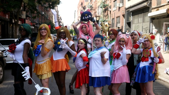 The Sailor Moon Heroines/Protagonists. They were awesome to work with! You could just see how much fun they had.